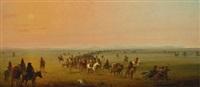 caravan en route (sir william drummond stewart's caravan) by alfred jacob miller