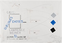 projet d'affiche (capc) by lawrence weiner