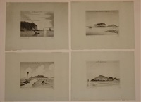 iles bretonnes (9 works; various sizes) by pierre dubreuil