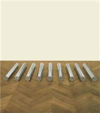 large rod series: circle/rectangle 5, 7, 9, 11, 13 by walter de maria