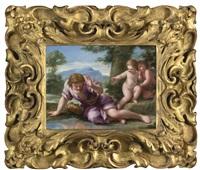 narcissus by giovanni francesco romanelli