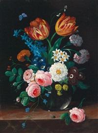 blumenstilleben (2 works) by erich josef donau dogarth