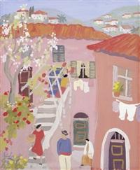 rosa hinterhof by georg einbeck