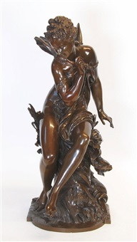 patinated bronze of psyche by mathurin moreau