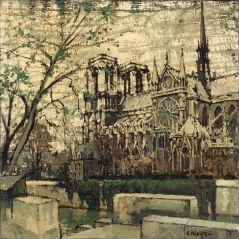 Notre Dame Dessin Von Constantin Kluge Auf Artnet