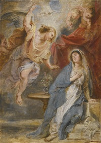 the annunciation by sir peter paul rubens
