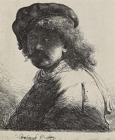 selbstbildnis mit der schärpe um den hals by rembrandt van rijn