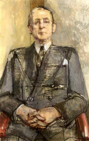 portrait of walter a brandt by william coldstream