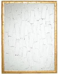 peinture blanche et dorée no.3 by bertrand lavier