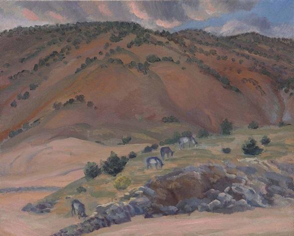 landscape, santa fe by john french sloan