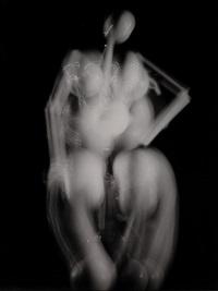 dali sculpture with light from dali/halsman portfolio by philippe halsman