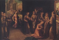 scenes form the life of saint clare of assisi by francisco pacheco