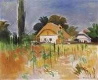 ház napraforgóval (house with a sunflower) by géza bornemisza