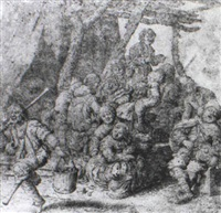 peasants carousing by willem (guilliam) de heer