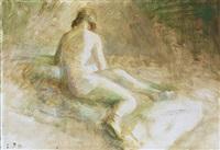 a back turned model by julius paulsen