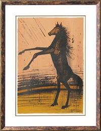cheval cabré by bernard buffet