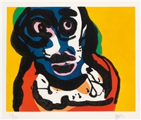 visage (from five night faces in broadway) by karel appel