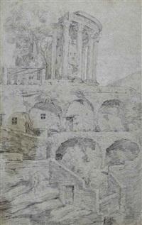 le temple de vesta à tivoli by gaspard dughet