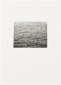 drypoint - ocean surface (second state) by vija celmins