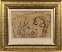 dreaming girl (untitled) by toyen (maria cerminova)