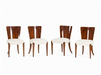 four chairs (set of 4) by jindrich halabala