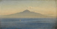 view of mount vesuvius by oswald achenbach