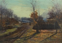 rural landscape with cabin by edward willis redfield