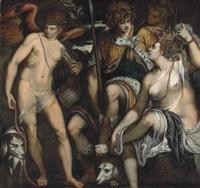 venus and adonis by giuseppe (salviati) porta