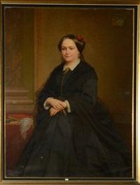 portrait d'une dame de qualité de la famille cogels by nicaise de keyser