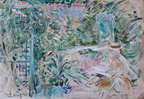the flowery garden by berthe morisot