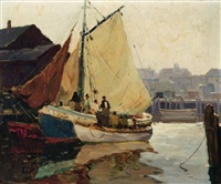 gloucester fisherman by anthony thieme