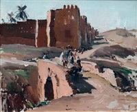 paysage du sud marocain by paul jean anderbouhr