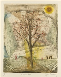 les arbres en vacances (portfolio of 5) by rené carcan