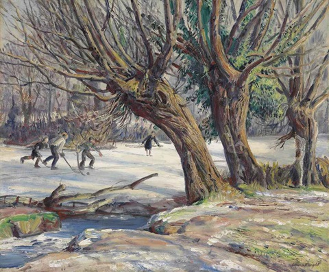 ice hockey by dame laura knight