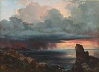 coastal scenery at kullen, sweden by carl frederik peder aagaard