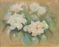 kwiaty w wazonie by waclaw zaboklicki