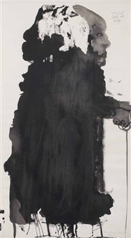 selfportrait as a little old lady by marlene dumas