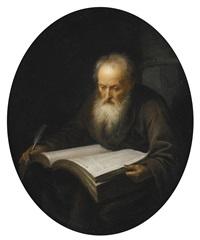 portrait of a scholar by gerrit dou