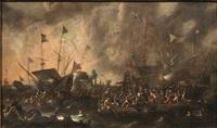 battaglia navale by cornelis de wael