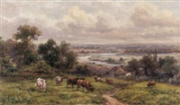 english landscape with cows by james baylie allen