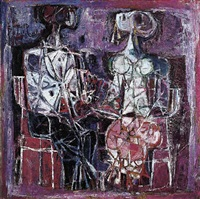 two seated women by but mochtar