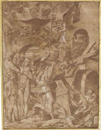 le christ aux limbes by luca (romano) penni