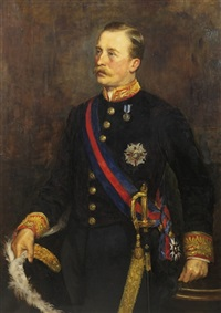 portrait of algernon hawkins thomand keith-falconer, 9th earl of kintore (1852-1930) by charles napier kennedy