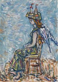 seated angel by aleksandr grigor'evich tyshler