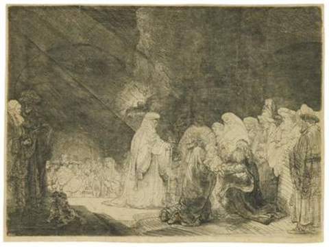 the presentation in the table by rembrandt van rijn