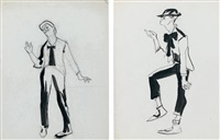 maurice chevalier en mime (pair) by james rassiat