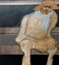 untitled (seated man) by benedicto cabrera