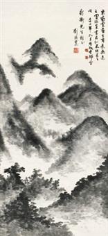 米氏云山 立轴 水墨纸本 by liu haisu