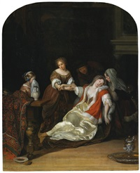 the fainting fit by eglon hendrik van der neer
