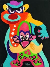 clown anti-robot (from cirque, soleil du monde) by karel appel